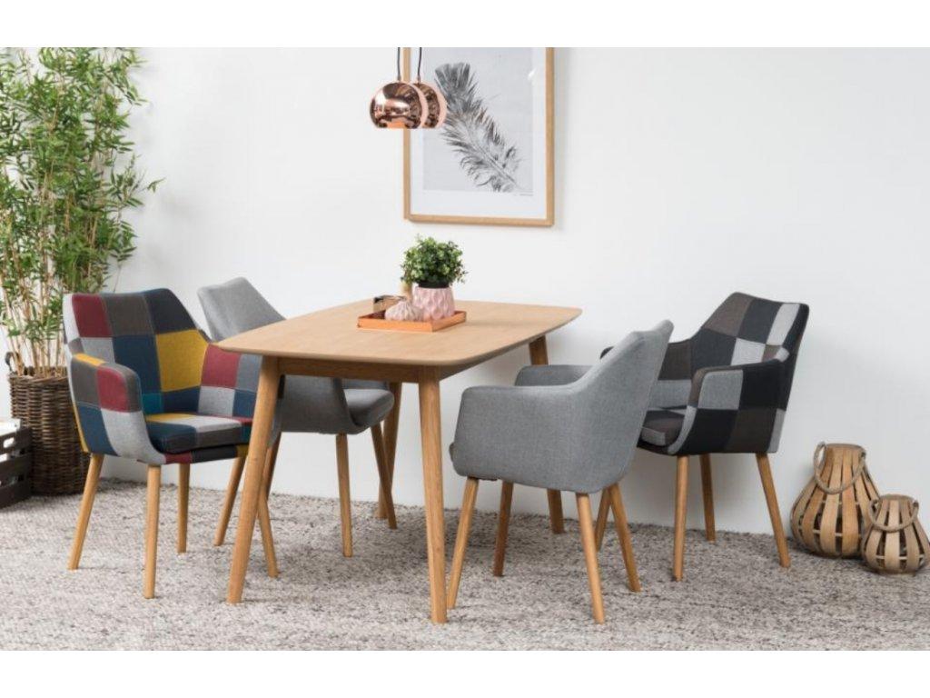 Patchwork látková židle Marte s područkami