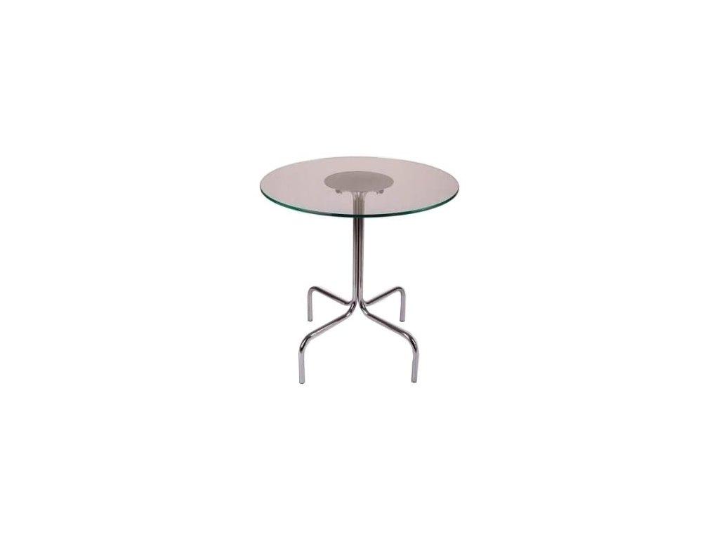 Transparentní odkládací stolek MARBET LOBO NG 70 cm