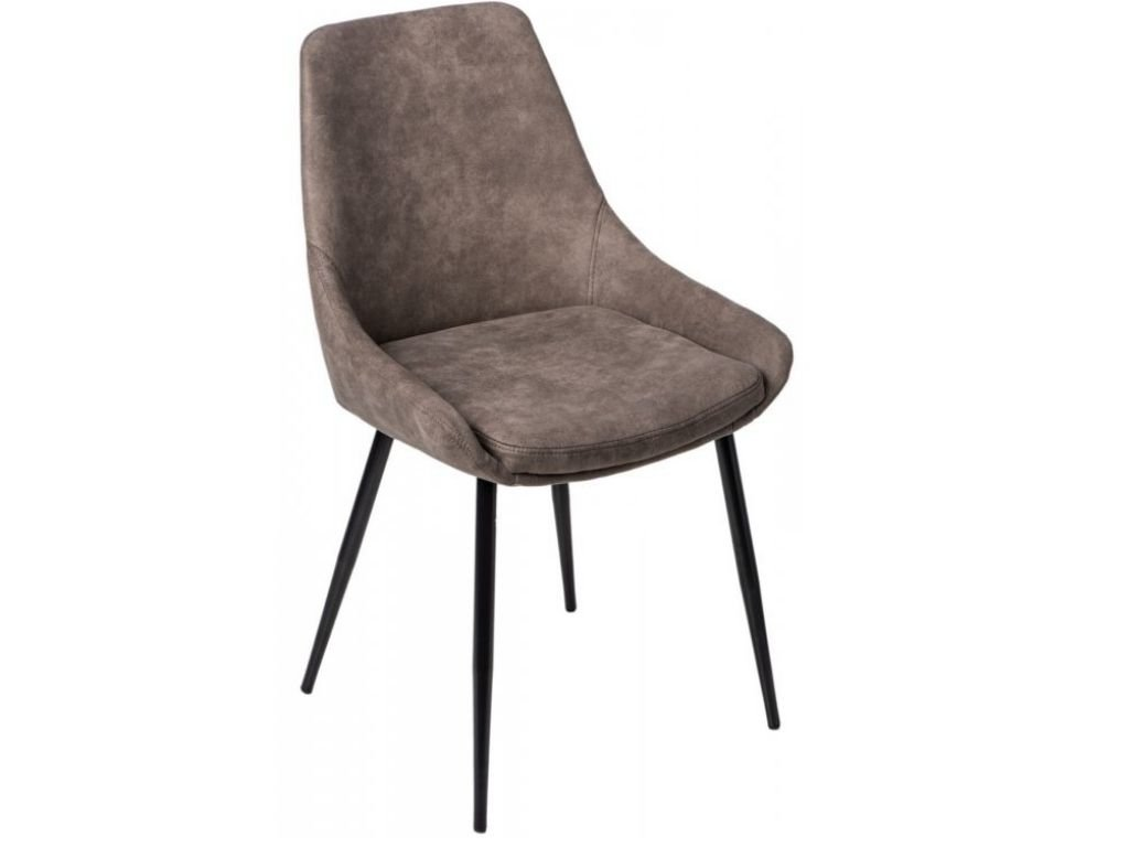 Světle hnědá koženková jídelní židle Sofia