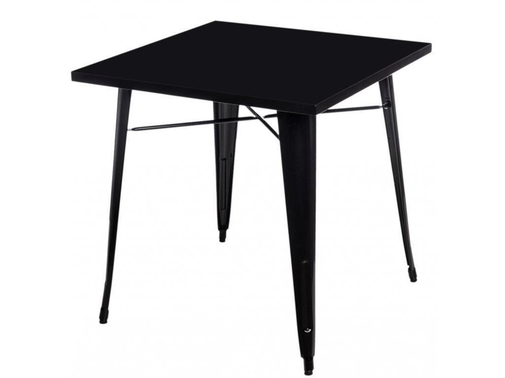 Jídelní stůl Tolix 76x76, černá