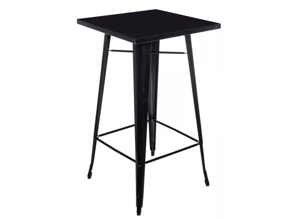 Designový černý barový stůl Tolix z kvalitního kovu