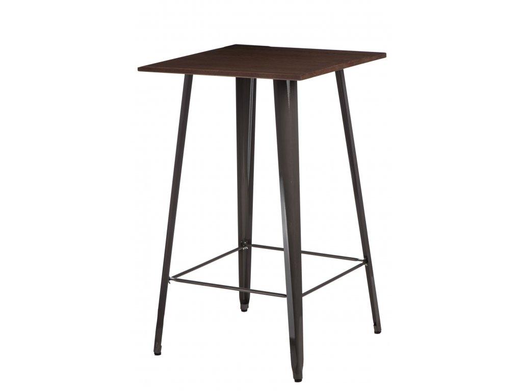 Designový barový stůl Tolix z kovu a s dřevěnou deskou