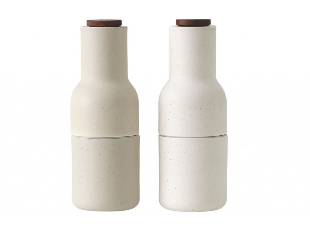 Set dvou béžových keramických mlýnků na sůl a pepř MENU GRINDER 20,5 cm