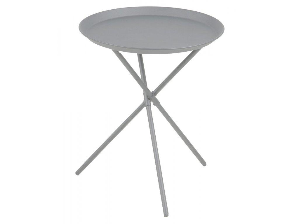 Šedý kovový odkládací stolek Triple