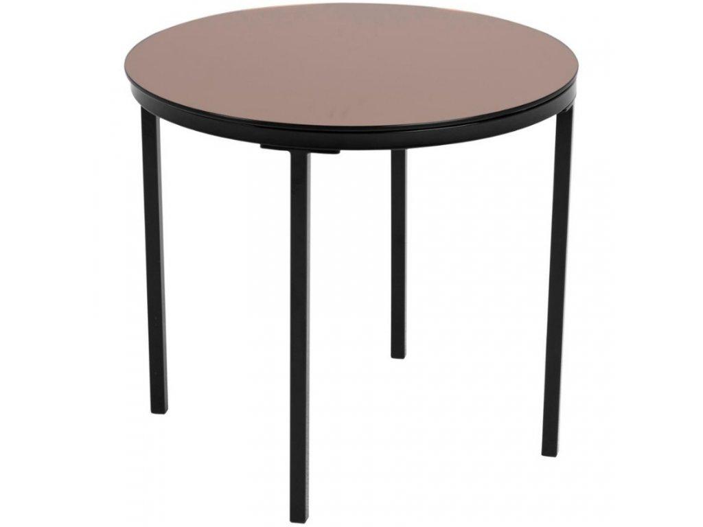 Skleněný měděný odkládací stolek Hood 50 cm