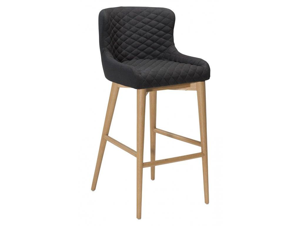 Černá látková barová židle DanForm Vetro