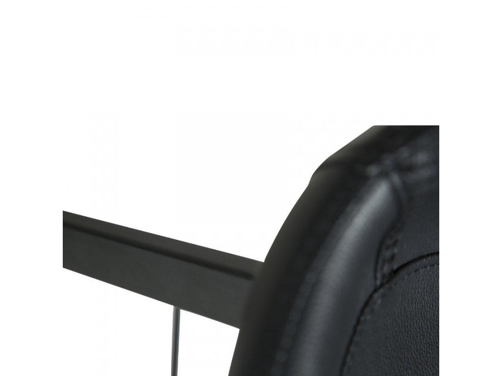 Černá koženková barová židle DanForm Hype
