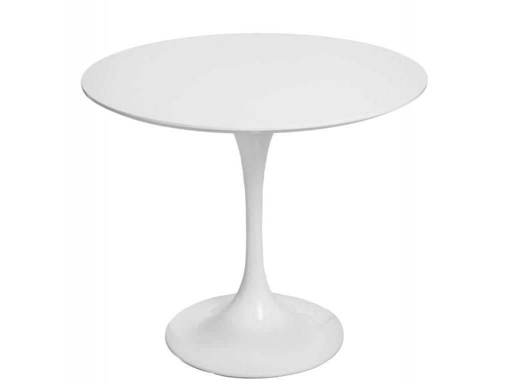 Designový bílý kulatý jídelní stůl Tulip 90 cm