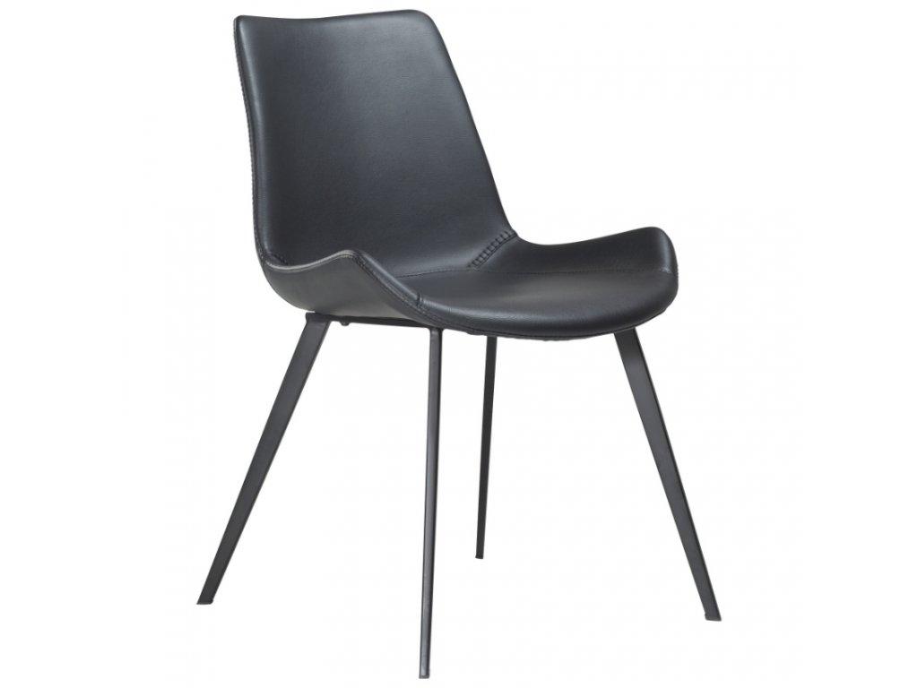 Černá koženková jídelní židle DanForm Hype