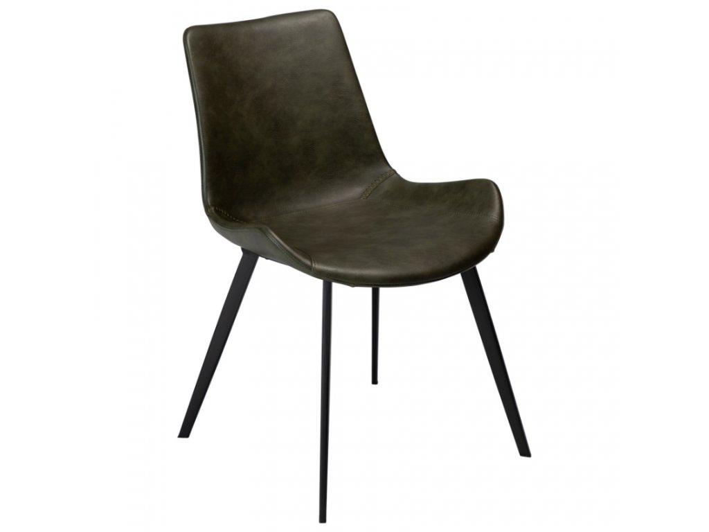 Zelená koženková jídelní židle DanForm Hype
