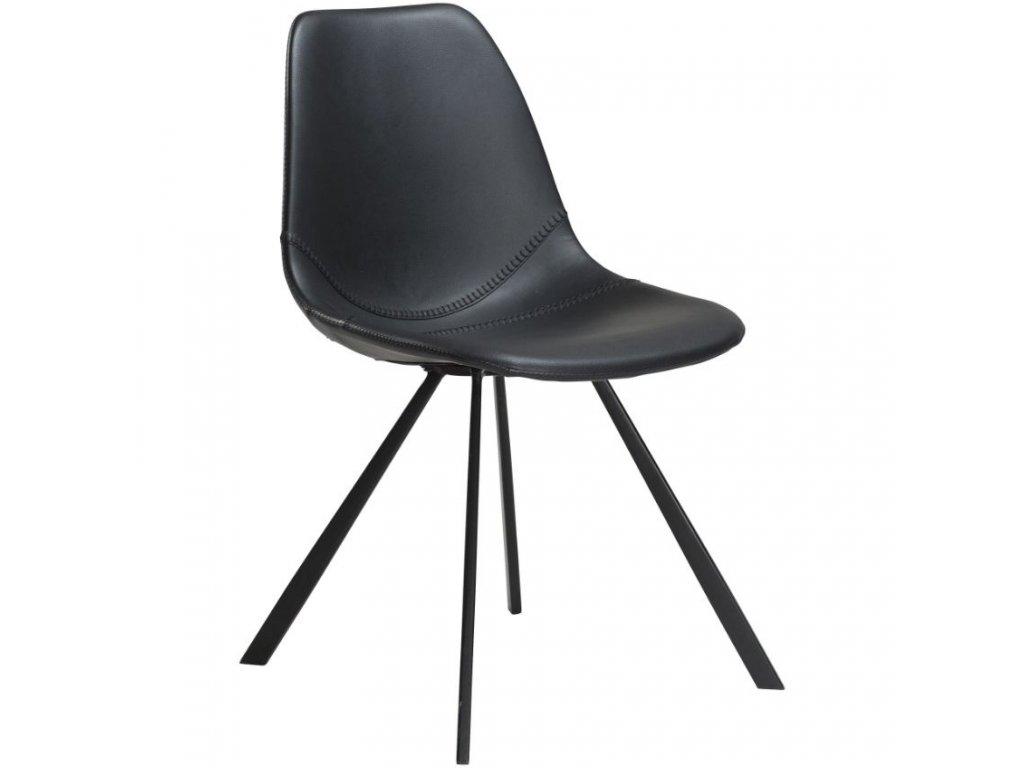 Černá koženková židle DanForm Pitch