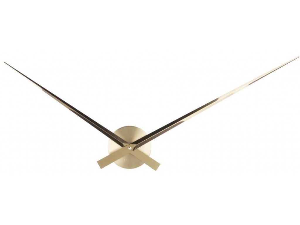 Zlaté nástěnné kovové hodiny Pointer 52 cm