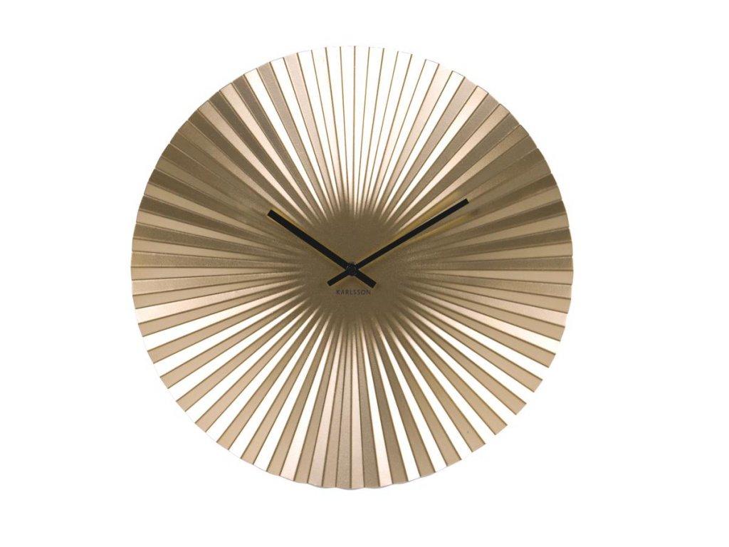 Zlaté nástěnné hodiny Trivet