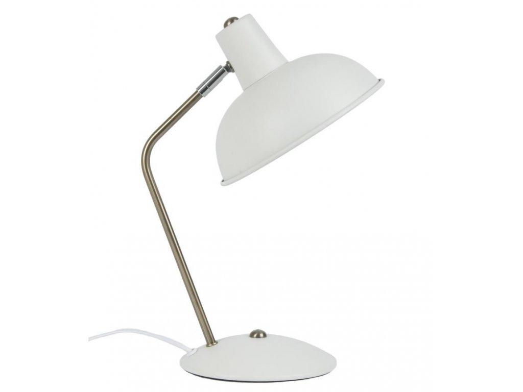 Bílá kovová stolní lampa Earny