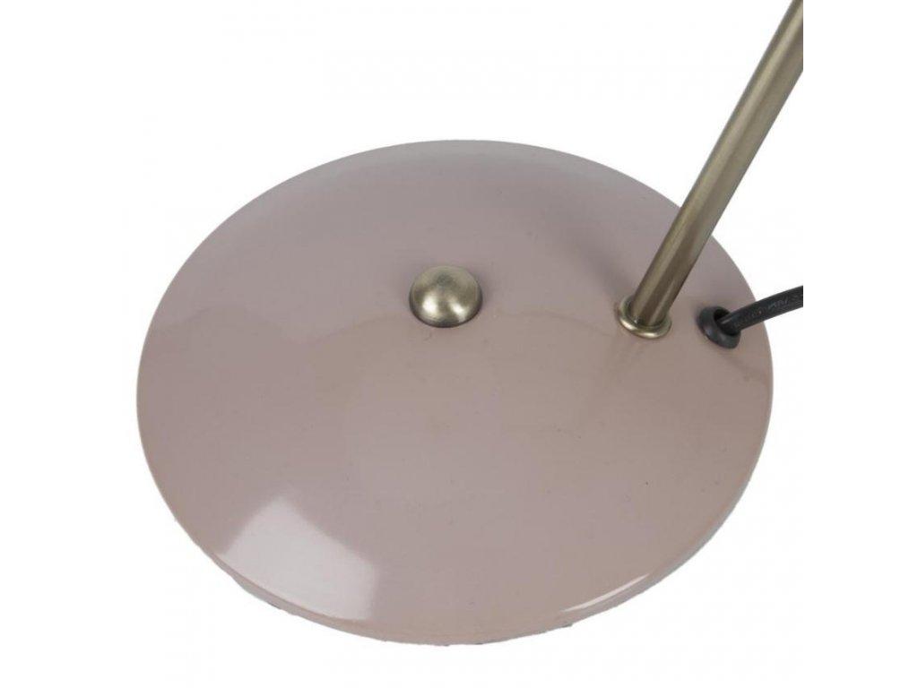 Světle růžová kovová stolní lampa Earny