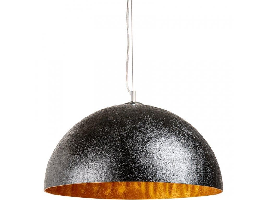 Černozlaté závěsné světlo Dome 50 cm