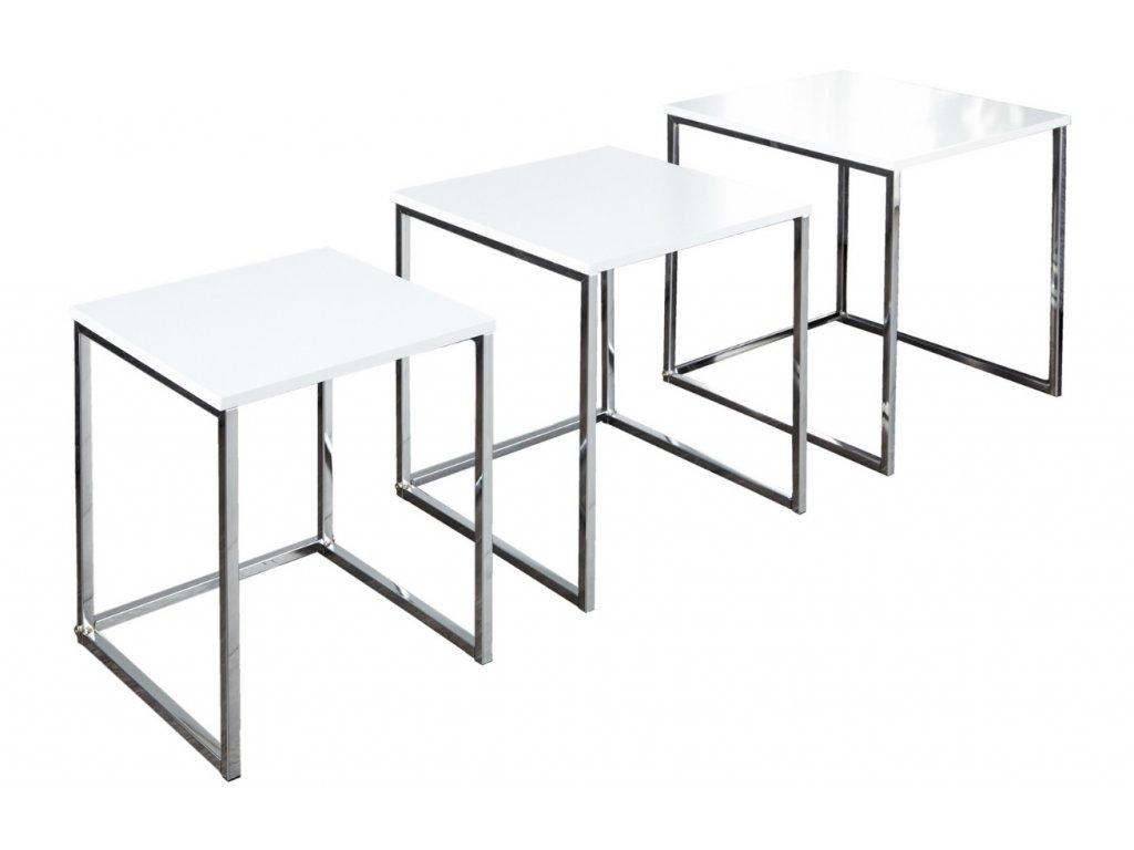 Set bílých konferenčních stolků Glam