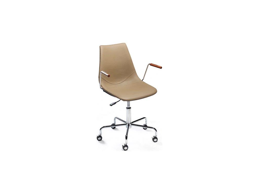Béžová čalouněná kancelářská židle DanForm Cross