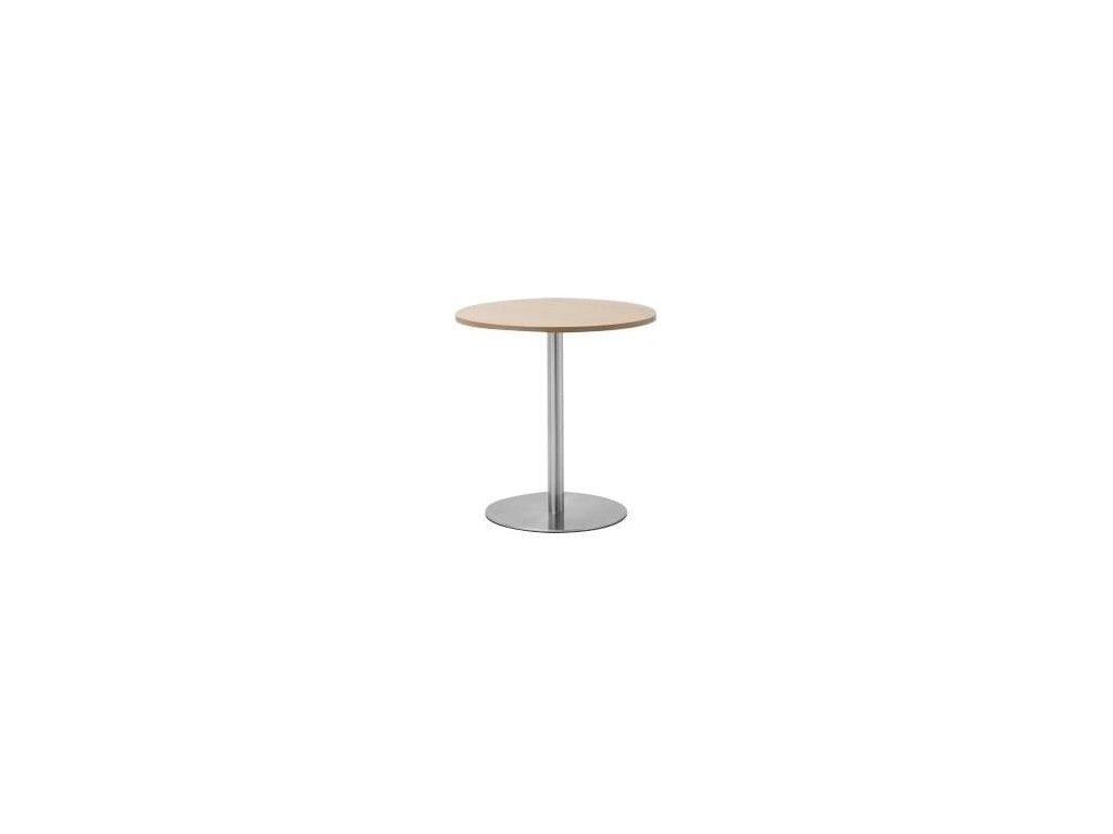 Dubový kulatý stolek MARBET LOBO s hliníkovou podnoží
