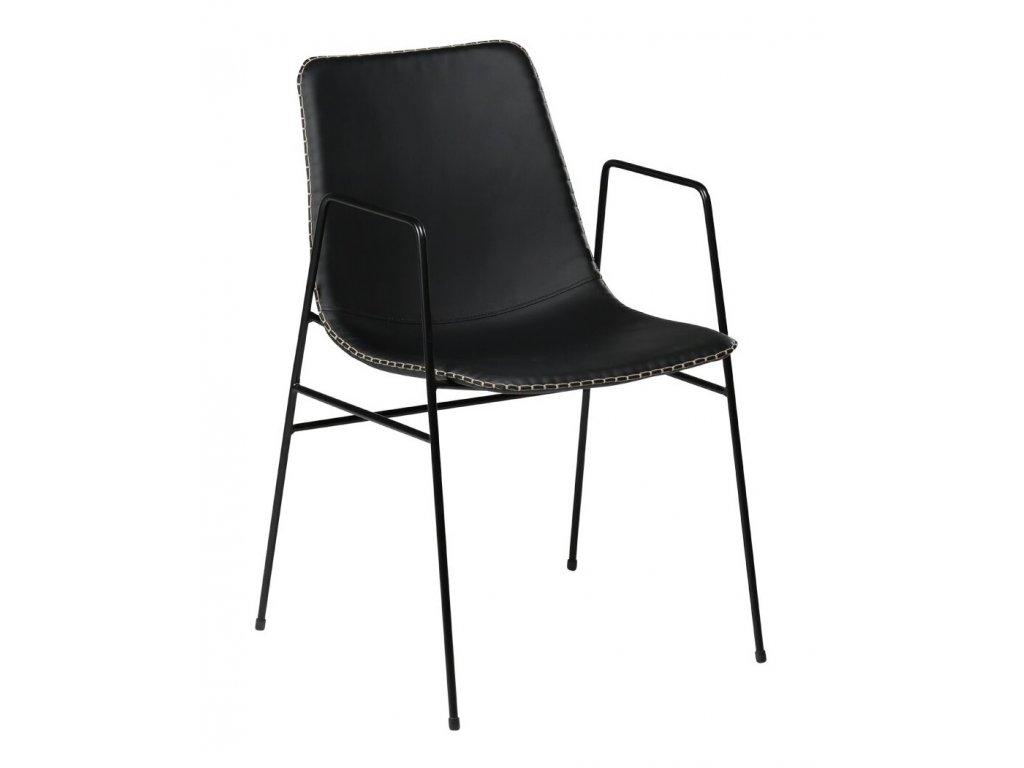 Černá koženková židle DanForm Floss