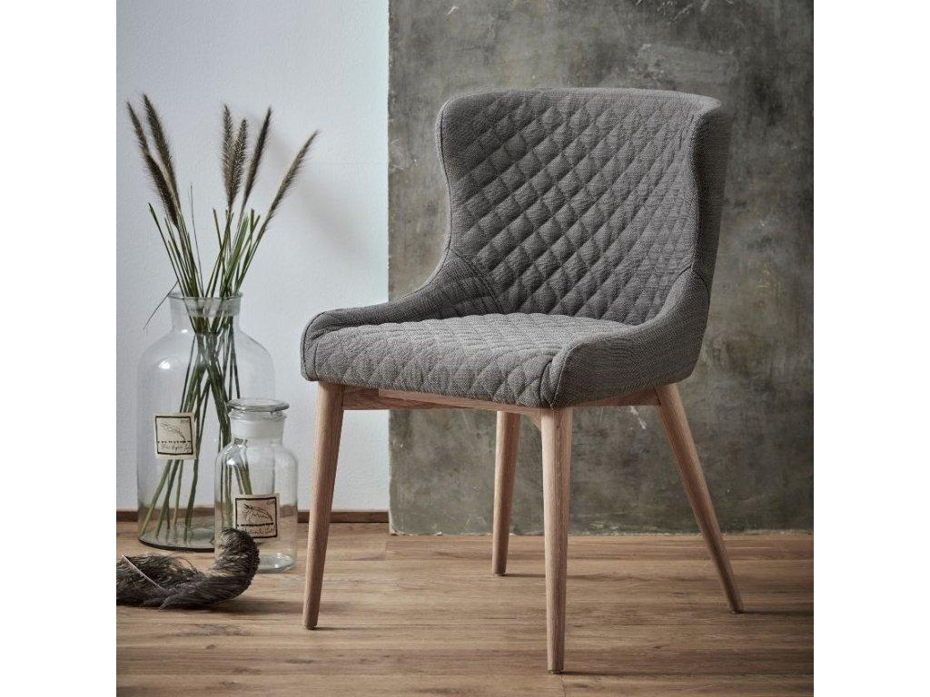Světle hnědá jídelní židle Dan-form Vetro v příjemném látkovém čalounění