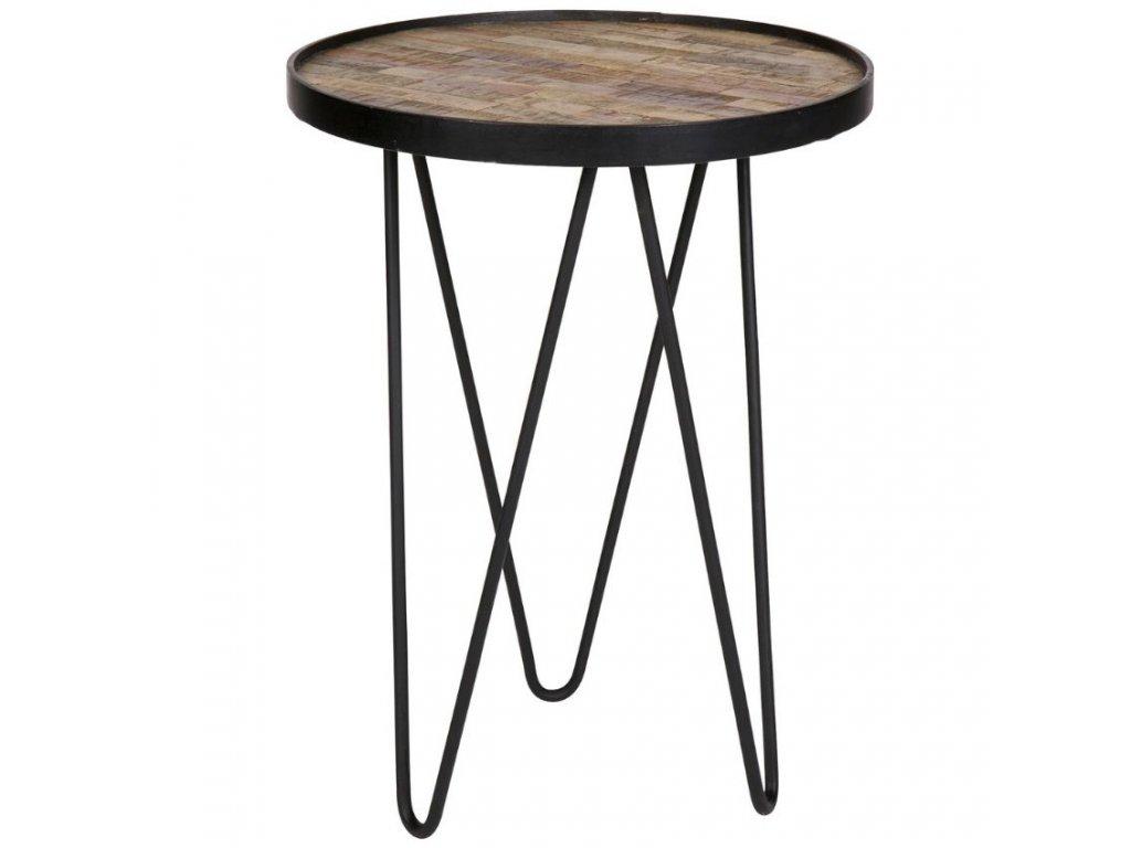 Dřevěný odkládací stolek Dach 39 cm