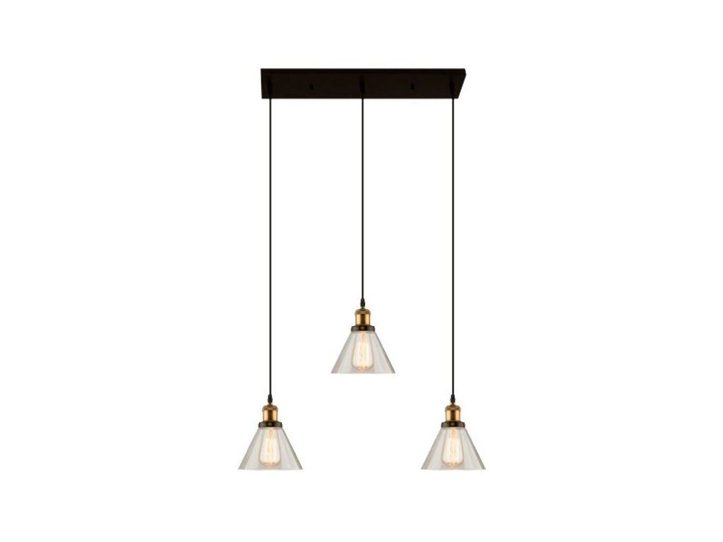 Designové transparentní závěsné světlo Soul CL 75 cm