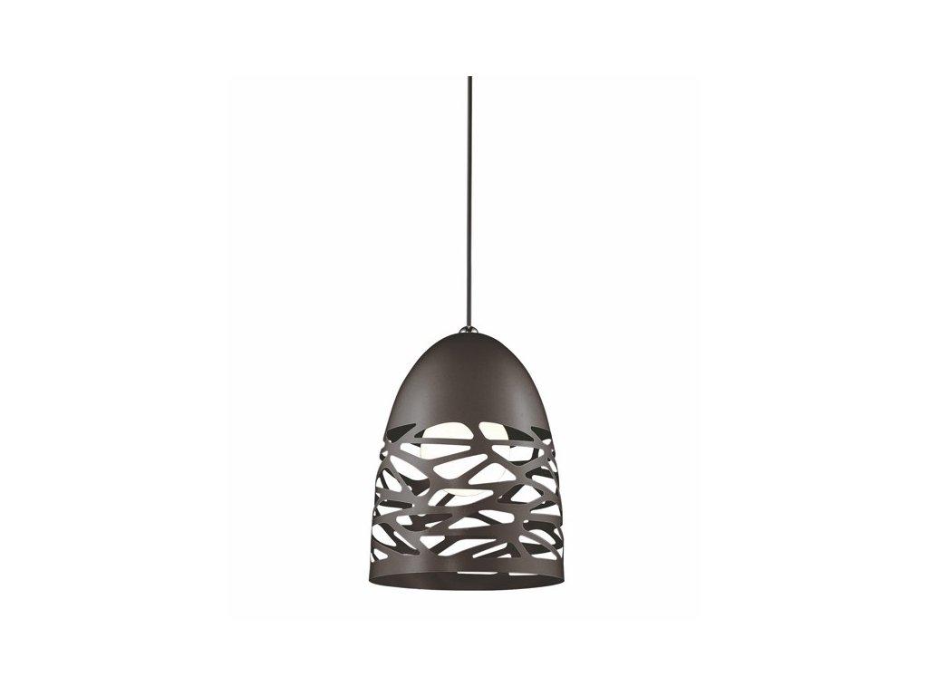 Černé kovové závěsné světlo Alegro 20 cm