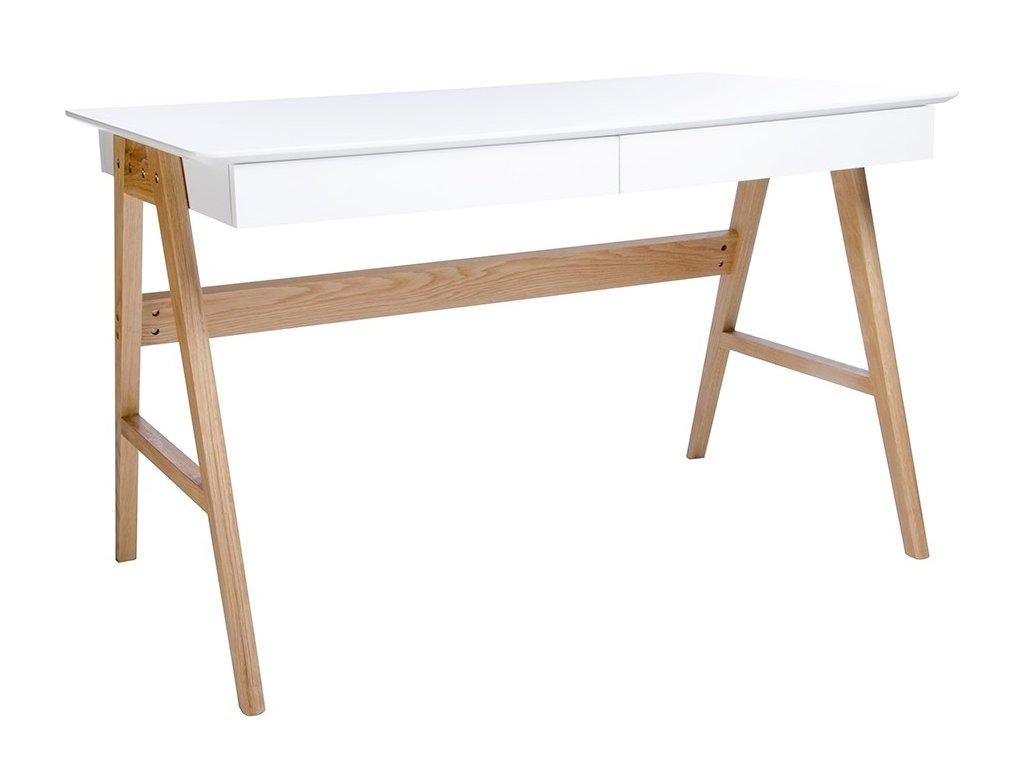 Bílý pracovní stůl Wood 120 cm