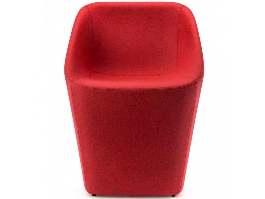 Červená vlněná židle Log 365