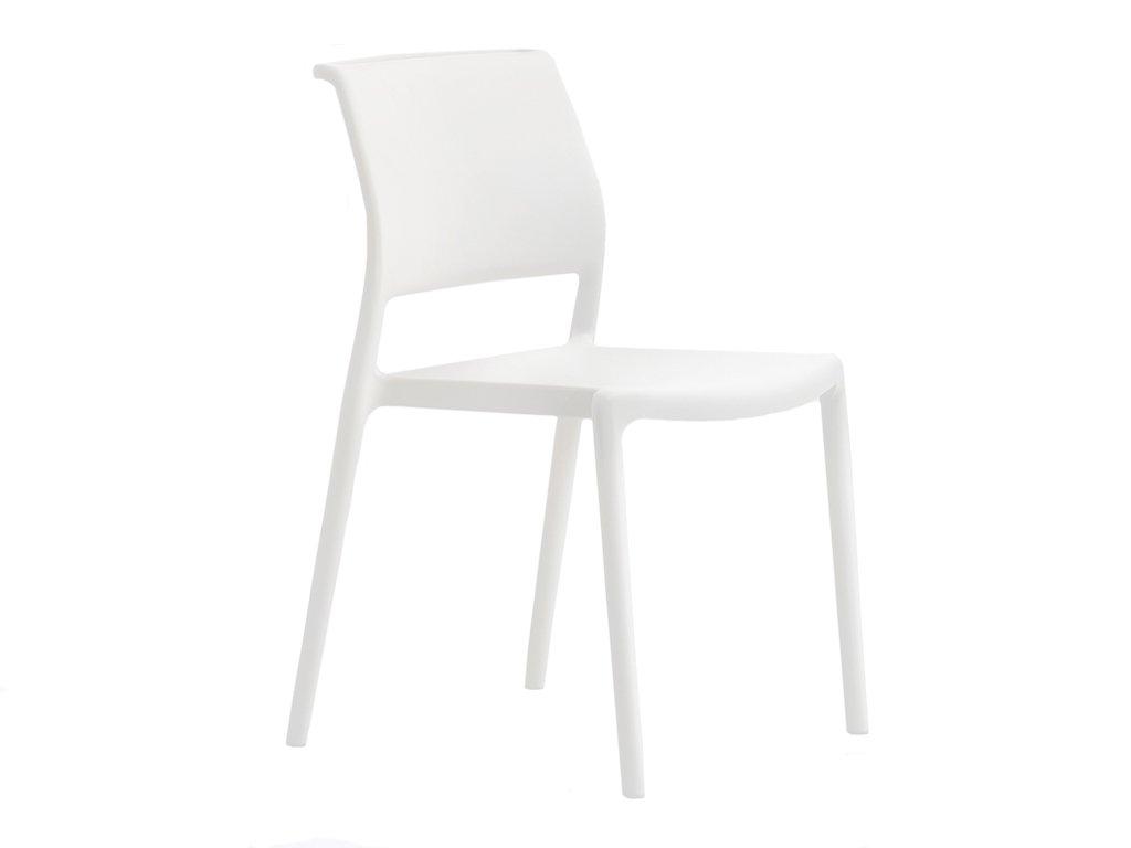 Bílá plastová židle ARA 310