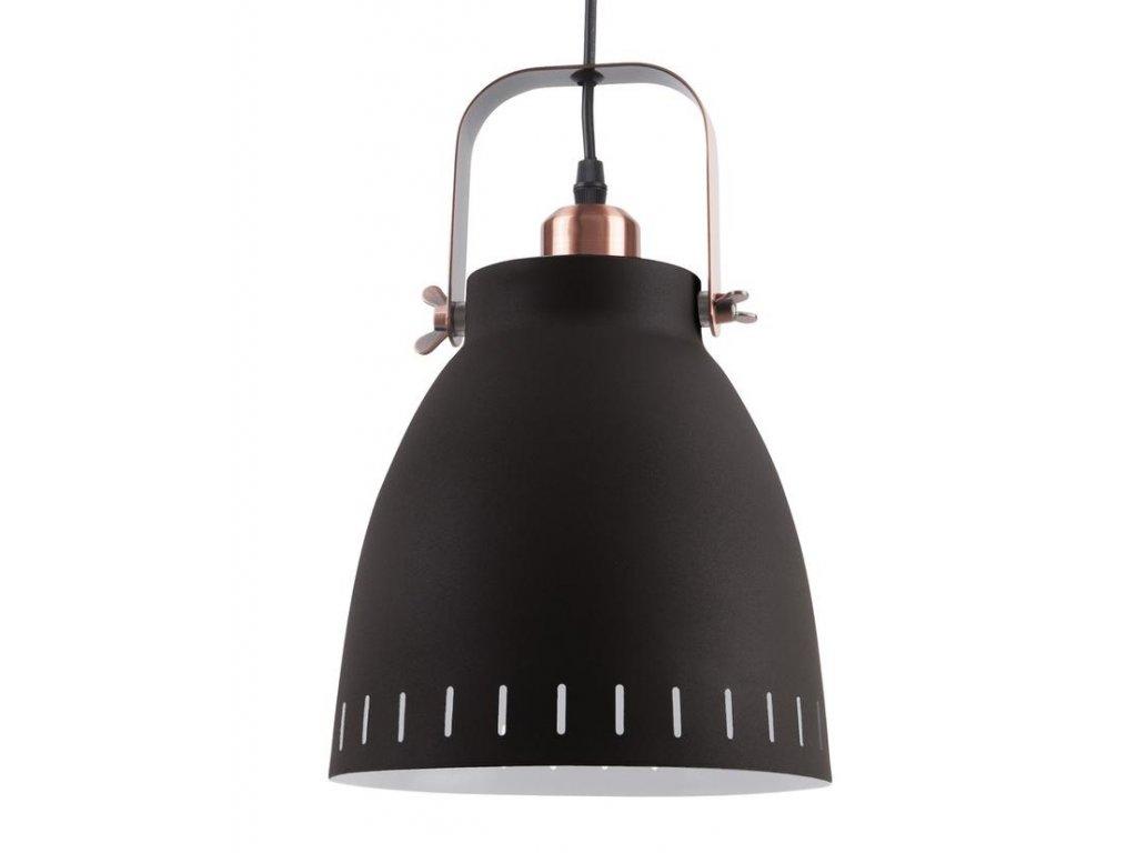 Černé kovové závěsné světlo Lash, 21 cm