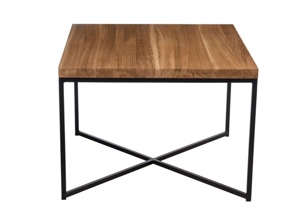 Konferenční stolek Tacros II 100x100 cm, dub/černá