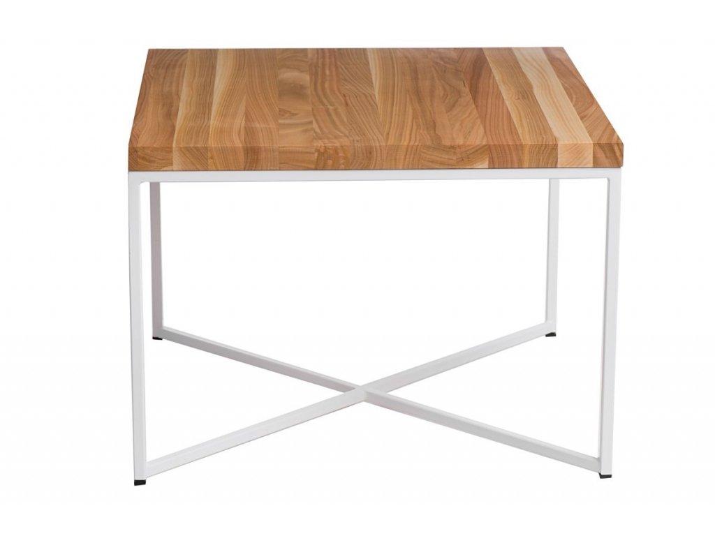 Konferenční stolek Tacros II 45x45 cm , třešeň/bílá