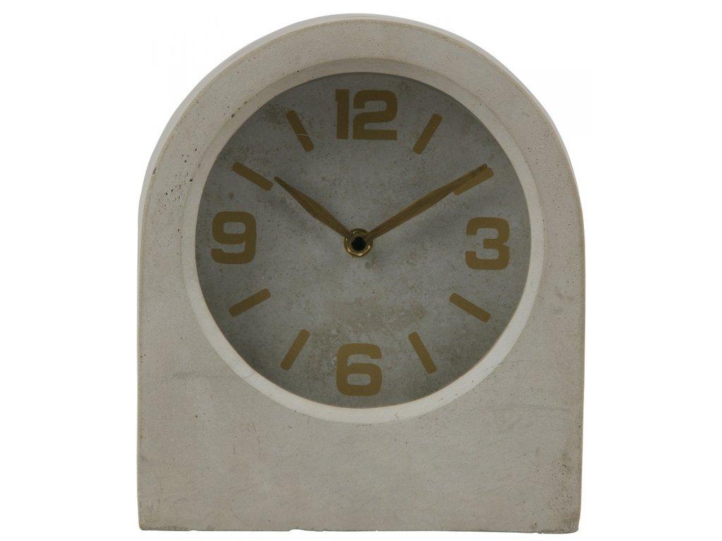 Šedé betonové stolní hodiny Ornell