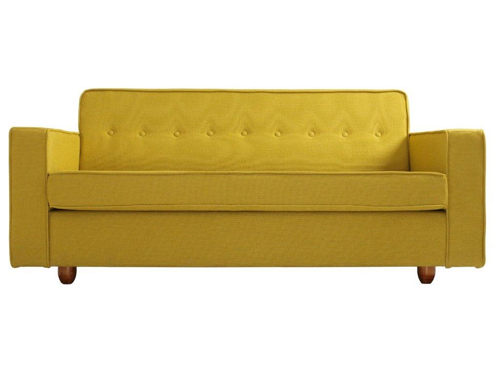 Žlutá látková dvoumístná pohovka Tracy 178 cm