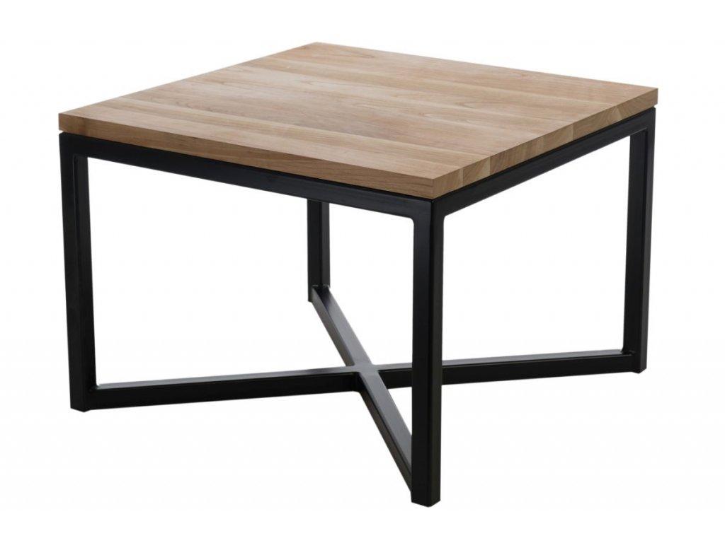 Konferenční stolek Tacros 60x60 cm, třešeň/černá