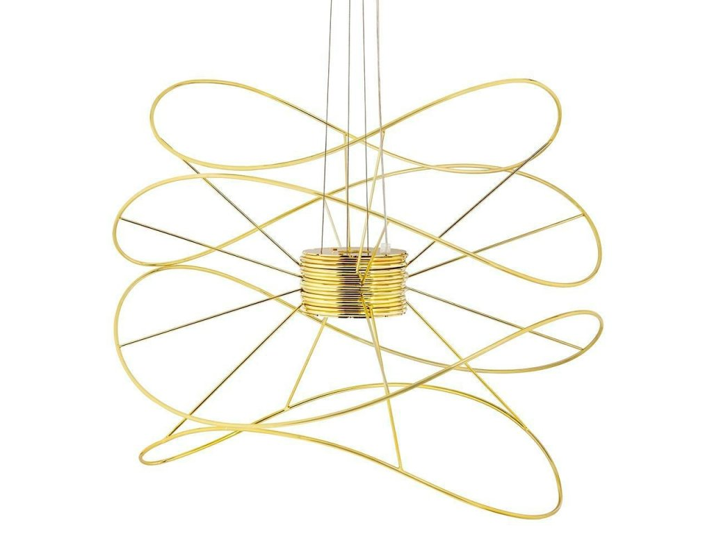 Designové zlaté závěsné světlo Inspiral