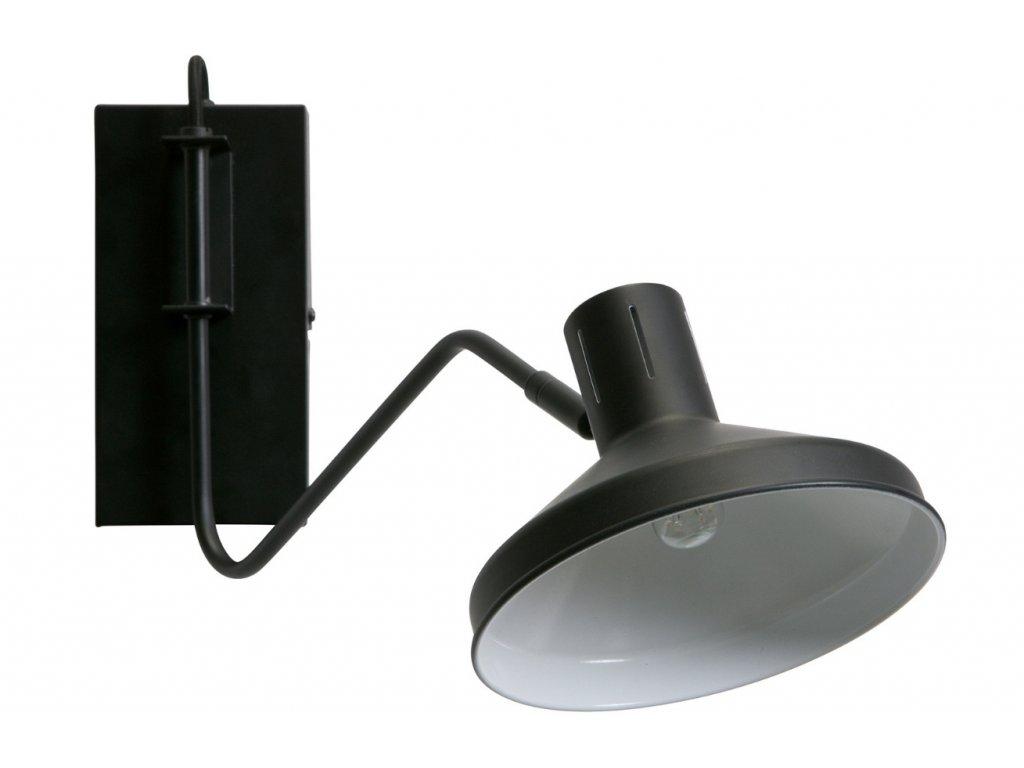 Černé nástěnné světlo Benoe