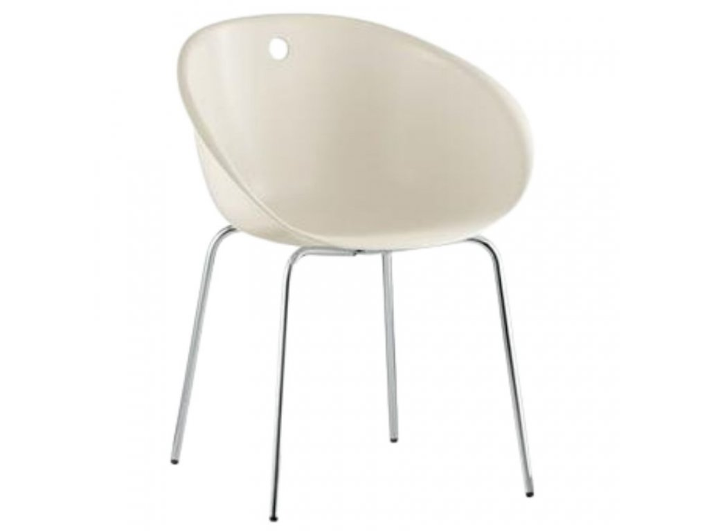 Béžová plastová jídelní židle GLISS 900