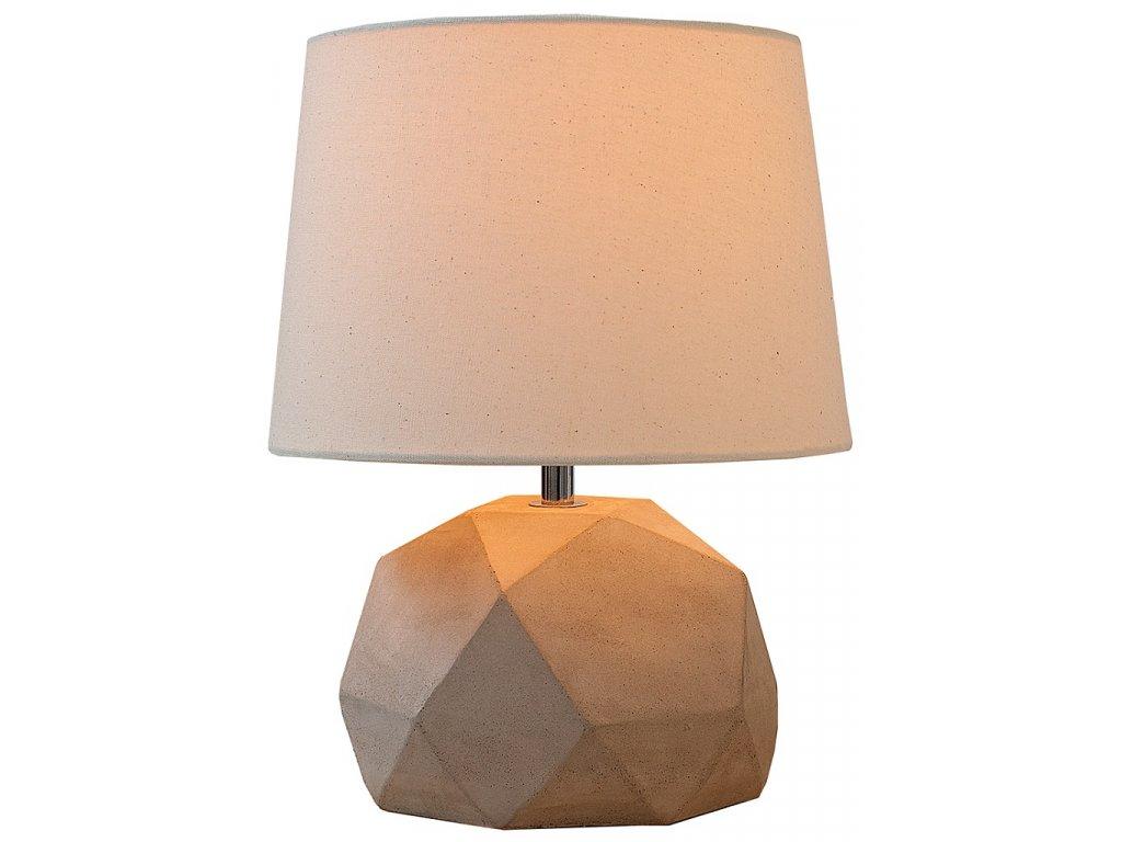 Betonová stolní lampa Brutto se stínidlem