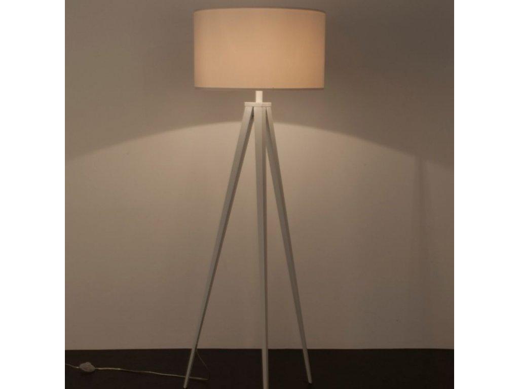 Bílá stojací lampa ZUIVER TRIPOD Ø 50 cm