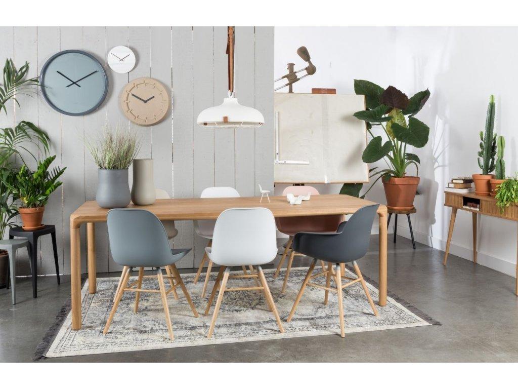 Béžová jídelní židle ZUIVER ALBERT KUIP, polypropylen, jasanové podnože