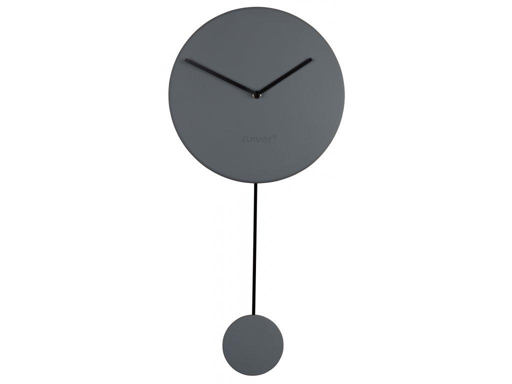 Minimalistické designové nástěnné hodiny ZUIVER MINIMALØ 30 cm v šedé barvě