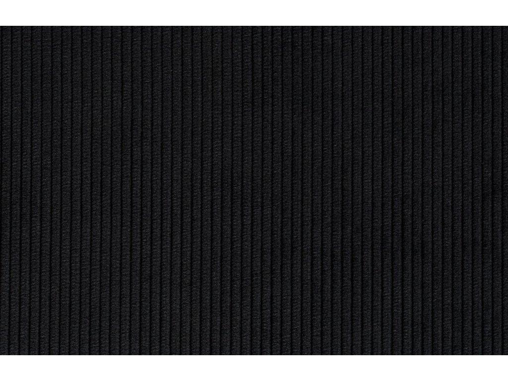 Černá látková židle ZUIVER RIDGE RIB s lesklým rámem