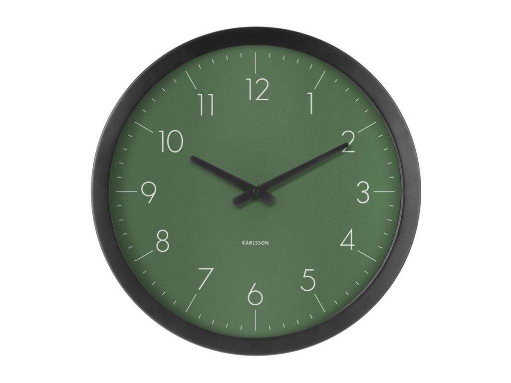 Zelené nástěnné hodiny Marien