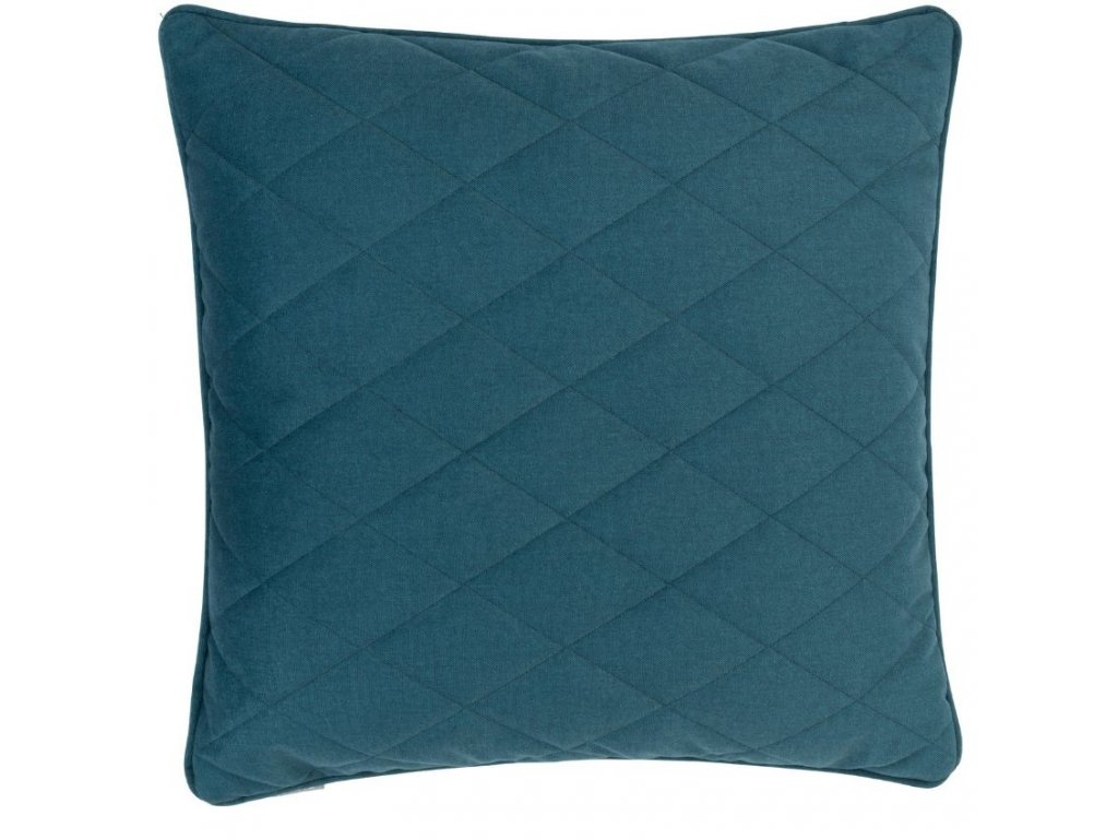Tmavě zelený polštář ZUIVER DIAMOND se vzory kosočtverců
