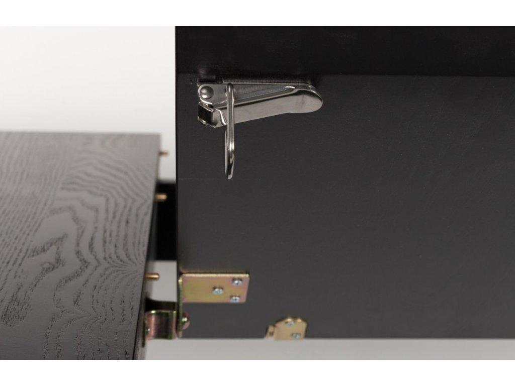 Černý rozkládací jídelní stůl ZUIVER GLIMPS 120/162x80 cm
