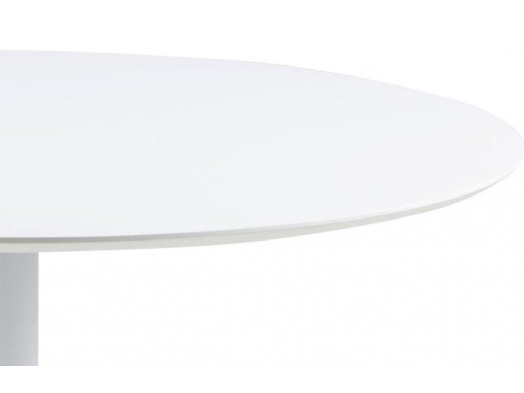 Bílý jídelní stůl Kreon 110 cm,MDF, kov