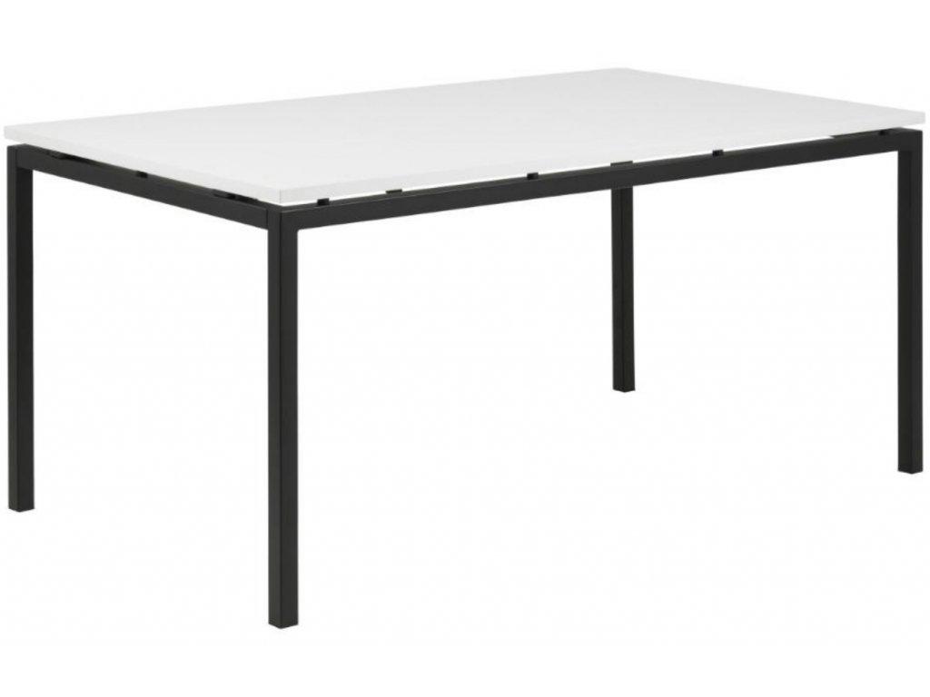 Moderní jídelní stůl Avanti s bílou deskou a černou podnoží